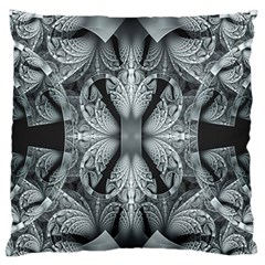 Fractal Blue Lace Texture Pattern Standard Flano Cushion Case (one Side)