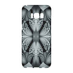 Fractal Blue Lace Texture Pattern Samsung Galaxy S8 Hardshell Case