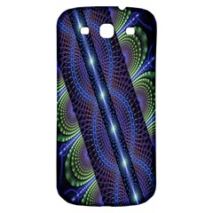 Fractal Blue Lines Colorful Samsung Galaxy S3 S Iii Classic Hardshell Back Case