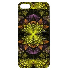 Fractal Multi Color Geometry Apple Iphone 5 Hardshell Case With Stand