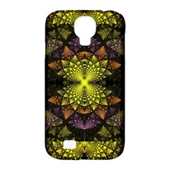 Fractal Multi Color Geometry Samsung Galaxy S4 Classic Hardshell Case (pc+silicone)