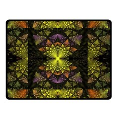 Fractal Multi Color Geometry Double Sided Fleece Blanket (small)