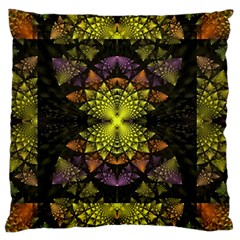 Fractal Multi Color Geometry Standard Flano Cushion Case (one Side)
