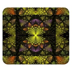 Fractal Multi Color Geometry Double Sided Flano Blanket (small)