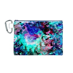 Background Art Abstract Watercolor Canvas Cosmetic Bag (m)