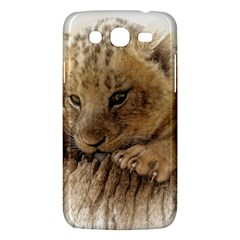 Lion Cub Close Cute Eyes Lookout Samsung Galaxy Mega 5 8 I9152 Hardshell Case