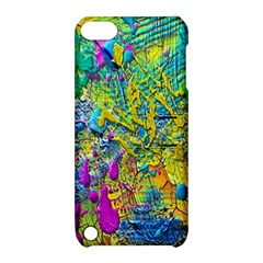 Background Art Abstract Watercolor Apple Ipod Touch 5 Hardshell Case With Stand