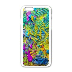 Background Art Abstract Watercolor Apple Iphone 6/6s White Enamel Case