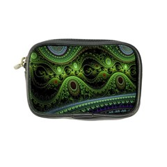 Fractal Green Gears Fantasy Coin Purse