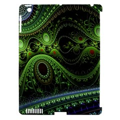 Fractal Green Gears Fantasy Apple Ipad 3/4 Hardshell Case (compatible With Smart Cover)