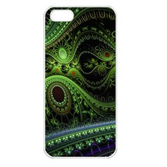 Fractal Green Gears Fantasy Apple Iphone 5 Seamless Case (white)
