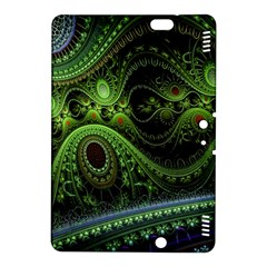 Fractal Green Gears Fantasy Kindle Fire Hdx 8 9  Hardshell Case
