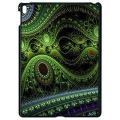 Fractal Green Gears Fantasy Apple Ipad Pro 9 7   Black Seamless Case