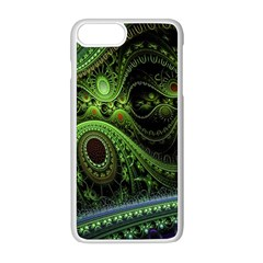 Fractal Green Gears Fantasy Apple Iphone 8 Plus Seamless Case (white)