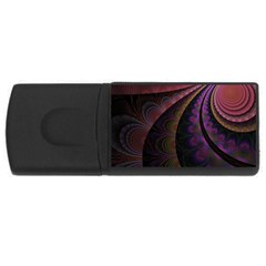 Fractal Colorful Pattern Spiral Rectangular Usb Flash Drive