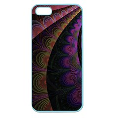Fractal Colorful Pattern Spiral Apple Seamless Iphone 5 Case (color)