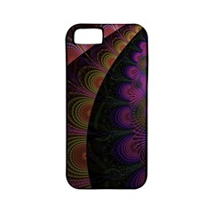 Fractal Colorful Pattern Spiral Apple Iphone 5 Classic Hardshell Case (pc+silicone)