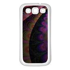 Fractal Colorful Pattern Spiral Samsung Galaxy S3 Back Case (white)