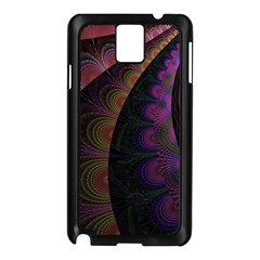 Fractal Colorful Pattern Spiral Samsung Galaxy Note 3 N9005 Case (black)