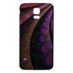 Fractal Colorful Pattern Spiral Samsung Galaxy S5 Back Case (white)