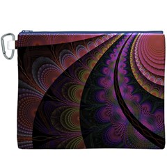 Fractal Colorful Pattern Spiral Canvas Cosmetic Bag (xxxl)