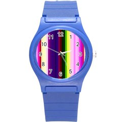 Abstract Background Pattern Textile 2 Round Plastic Sport Watch (s)