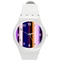 Abstract Background Pattern Textile 3 Round Plastic Sport Watch (m)