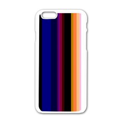 Abstract Background Pattern Textile 3 Apple Iphone 6/6s White Enamel Case