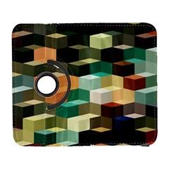 Art Design Color Pattern Creative 3d Galaxy S3 (flip/folio)