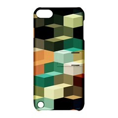 Art Design Color Pattern Creative 3d Apple Ipod Touch 5 Hardshell Case With Stand