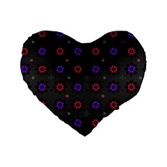 Funds Texture Pattern Color Standard 16  Premium Flano Heart Shape Cushions