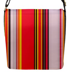 Abstract Background Pattern Textile Flap Messenger Bag (s)