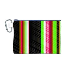 Abstract Background Pattern Textile Canvas Cosmetic Bag (m)