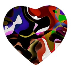 Abstract Background Design Art Heart Ornament (two Sides)