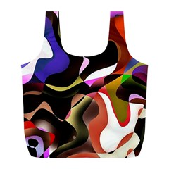 Abstract Background Design Art Full Print Recycle Bags (l)