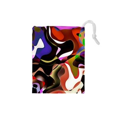 Abstract Background Design Art Drawstring Pouches (small)