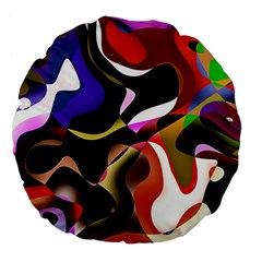 Abstract Background Design Art Large 18  Premium Flano Round Cushions