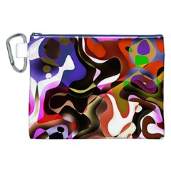 Abstract Background Design Art Canvas Cosmetic Bag (xxl)
