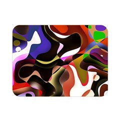 Abstract Background Design Art Double Sided Flano Blanket (mini)