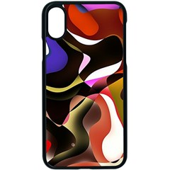 Abstract Background Design Art Apple Iphone X Seamless Case (black)
