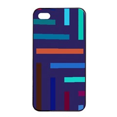 Lines Line Background Abstract Apple Iphone 4/4s Seamless Case (black)