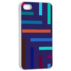 Lines Line Background Abstract Apple Iphone 4/4s Seamless Case (white)
