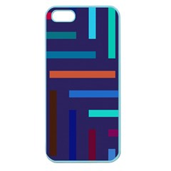 Lines Line Background Abstract Apple Seamless Iphone 5 Case (color)