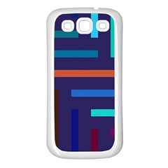 Lines Line Background Abstract Samsung Galaxy S3 Back Case (white)