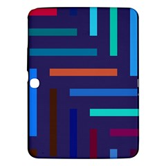 Lines Line Background Abstract Samsung Galaxy Tab 3 (10 1 ) P5200 Hardshell Case