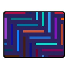 Lines Line Background Abstract Double Sided Fleece Blanket (small)