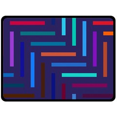 Lines Line Background Abstract Double Sided Fleece Blanket (large)