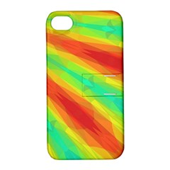 Graphic Kaleidoscope Geometric Apple Iphone 4/4s Hardshell Case With Stand