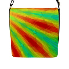 Graphic Kaleidoscope Geometric Flap Messenger Bag (l)