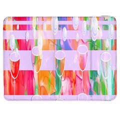 Watercolour Paint Dripping Ink Samsung Galaxy Tab 7  P1000 Flip Case